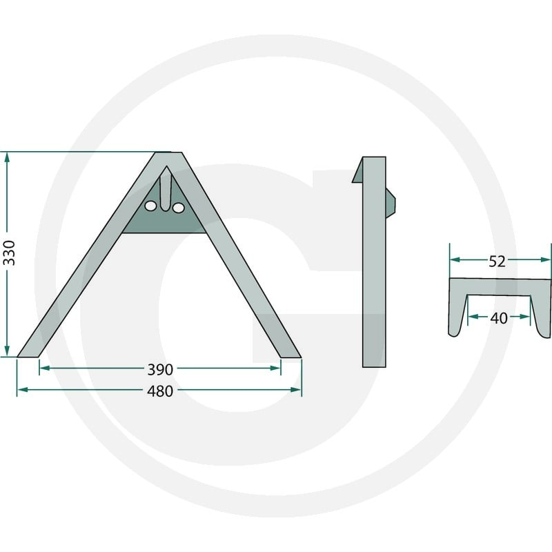 A-FRAME LINKAGEmunicipal, for implements up to 500 kg 1