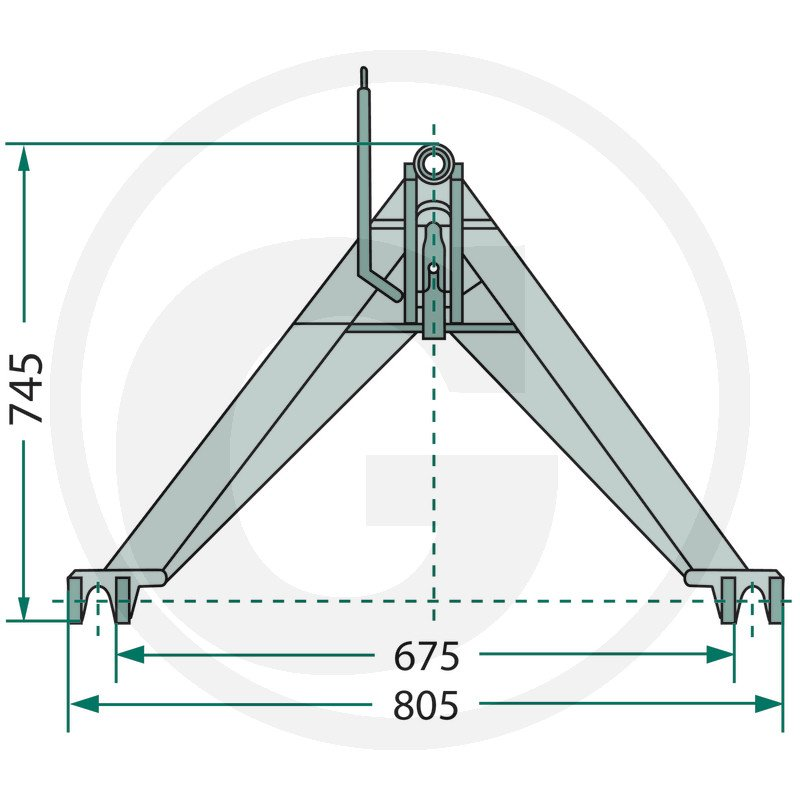 TRACTOR A-FRAMECat. 1, up to 1200 kg 1