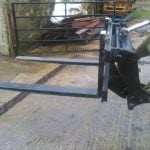 Pallet forks with Euro Hitch 3