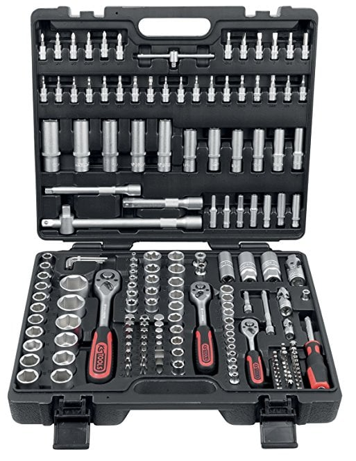 "KS TOOLS 3/4"" CLASSIC SOCKET WRENCH SET 21-piece, in plastic case 1"
